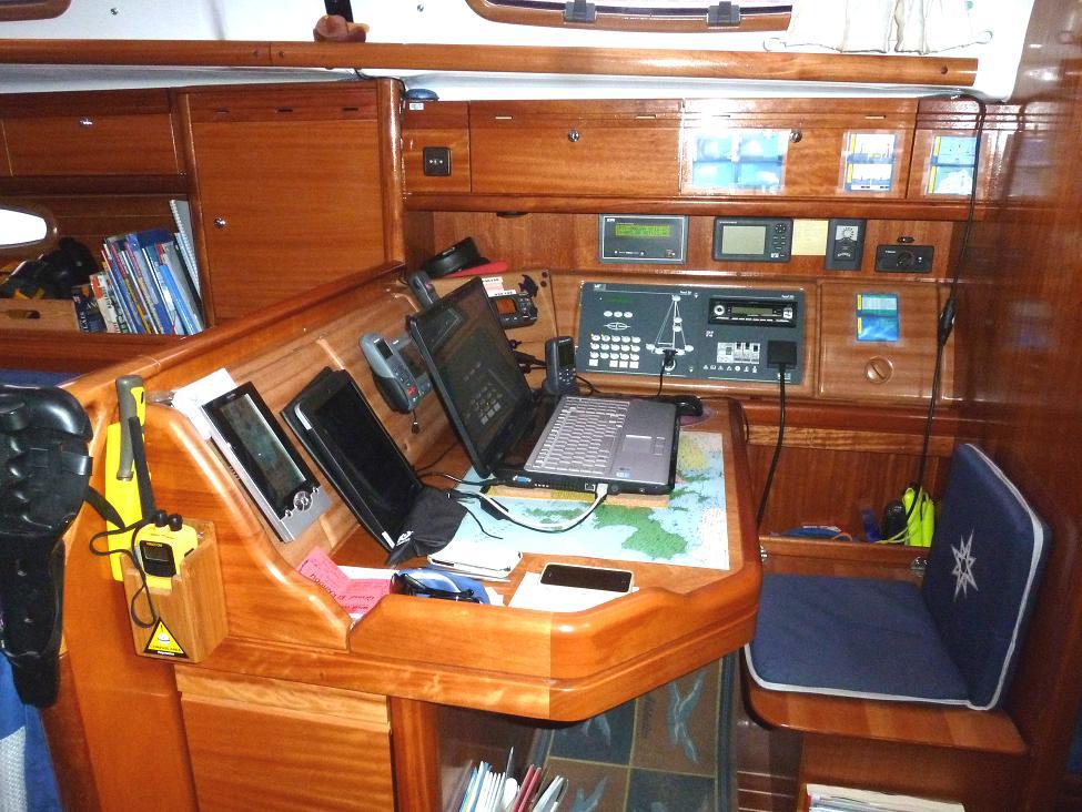 Bureau du voilier Cala