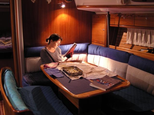 Cabine du voilier Cala
